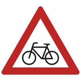Verkehrszeichen - StVO Radfahrer (Aufstellung rechts)