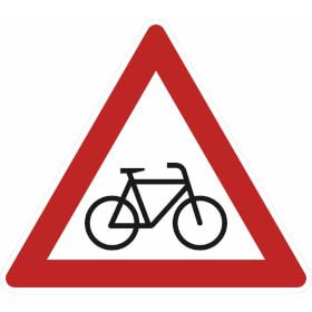Verkehrsschild nach StVO - Nr. 138-20 Radfahrer (Aufstellung links)