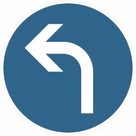 Verkehrszeichen - StVO Vorgeschriebene Fahrtrichtung links