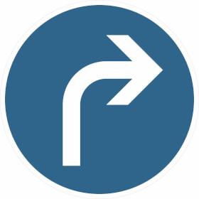 Verkehrszeichen - StVO Vorgeschriebene Fahrtrichtung rechts