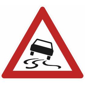 Verkehrszeichen - StVO Schleudergefahr bei Nässe oder Schmutz