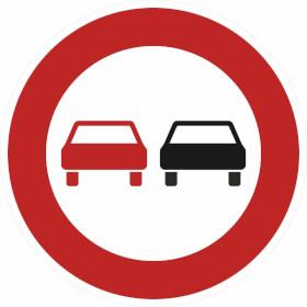 Verkehrsschild nach StVO - Nr. 276 Überholverbot für Kraftfahrzeuge aller Art