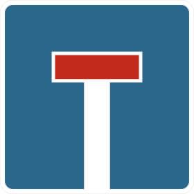Verkehrszeichen - StVO Sackgasse