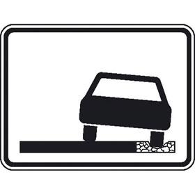Verkehrsschild nach StVO - Nr. 388 Seitenstreifen für mehrspurige Fahrzeuge nicht befahrbar
