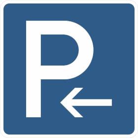 Verkehrszeichen - StVO Parkplatz (Anfang)