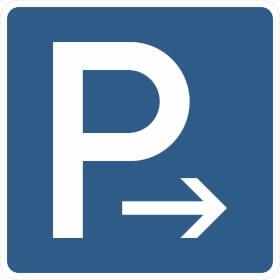 Verkehrszeichen - StVO Parkplatz (Ende)
