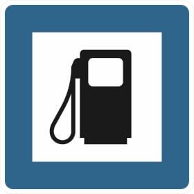 Verkehrsschild nach StVO - Nr. 361-50 Tankstelle