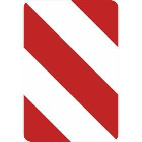 Verkehrszeichen - StVO Leitplatte rechtsweisend
