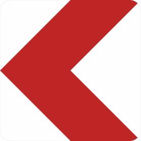 Verkehrszeichen - StVO Richtungstafel linksweisend
