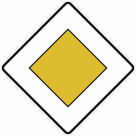 Verkehrsschild Vorfahrtstraße VZ: 306