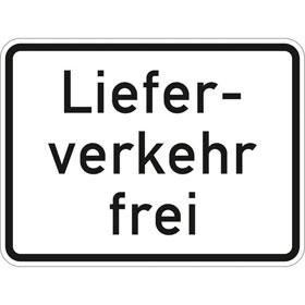 Verkehrszeichen - StVO Lieferverkehr frei