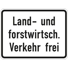 Verkehrszeichen - StVO Land- und forstwirtschaf. Verkehr frei