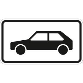 Verkehrszeichen - StVO nur Personenkraftwagen