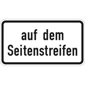Verkehrszeichen - StVO auf dem Seitenstreifen