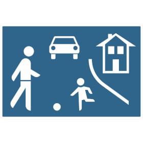 Verkehrszeichen - StVO Beginn eines verkehrsberuhigten Bereichs