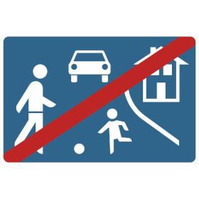 Verkehrszeichen - StVO Ende eines verkehrsberuhigten Bereichs