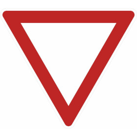 Verkehrszeichen - StVO Vorfahrt gewähren