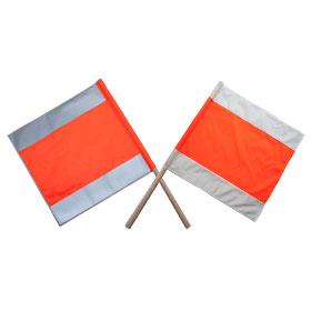 Warnfahne / Warnflagge Typ A tagesleuchtend / weiß / rot-orange / weiß