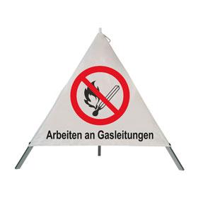 Safety Faltsignal Grundfarbe weiß, verschiedene Symbole/Texte möglich,