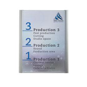 ATLANTIC Infotafeln A3, schlichter Rahmen (aluminium-farbend),