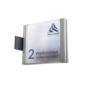 ATLANTIC Fahnenschild mit einem schlichten Rahmen in Alumium-Optik aus hochwertigem Kunststoff