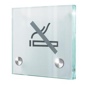 CRISTALLO Türschilder aus Einscheiben-Sicherheitsglas, hochwertige Edelstahlhalter,