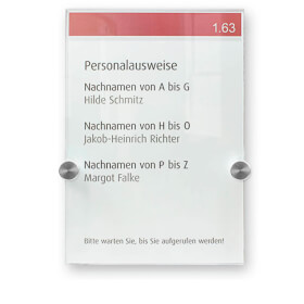 CRYSTAL SIGN Türschilder DURABLE, Türschild, hochwertiges Acrylglas, A5, , Abstandhalter d= 1,1 cm