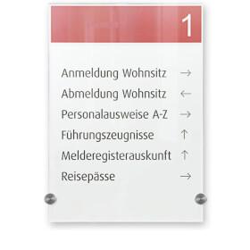 CRYSTAL SIGN Infotafeln DURABLE, Infotafel, hochwertiges Acrylglas, A4 hoch, , Abstandhalter d= 1,1 cm