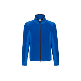 Hakro Fleecejacke Brandon Stretch blau modische Jacke mit Stretch - Microfleece