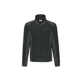 Hakro Fleecejacke Brandon Stretch anthrazit modische Jacke mit Stretch - Microfleece