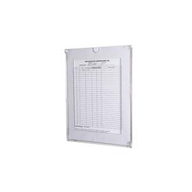 Hygieneplan Kontrolltafel Flap A4 vertikal, mit Fenster