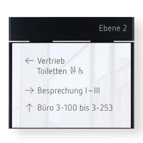 MessengerX Wandschild, flach - für Papiereinlage A4 quer