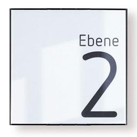MessengerX Türschild, flach - für Papiereinlage (15,0 x 15,0 cm)