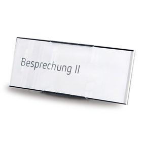 MessengerX Tischaufsteller, flach - für Papiereinlage (15,7 x 6,1 cm)