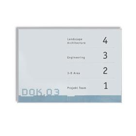 NEW AGE Infotafel A4 Querformat, hochfeste, silber matte Aluminiumprofile,