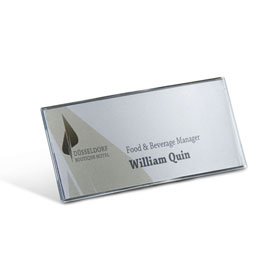 OCEAN Tisch-/Preisaufsteller L-Aufsteller, einseitig lesbar, Halterung aus Aluminium