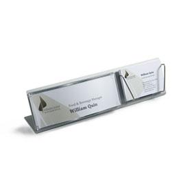 OCEAN Tischaufsteller inkl. 1/2 DIN A6 Schild und Visitenkartenhalter,