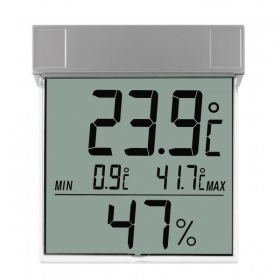 TFA Digitales Fenster - Thermo - Hygrometer VISION Digitales Thermometer für Fensterscheiben