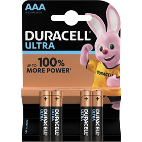 Duracell Ultra Power AAA (MX2400 / LR03) Alkaline - Batterie mit Powercheck