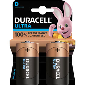 Duracell Ultra Power D (MX1300 / LR20) Alkaline - Batterie mit Powercheck