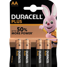 Duracell Plus Power AA (MN1500 / LR06) Alkaline - Batterie