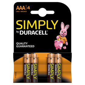 Duracell Simply AAA (MN2400 / LR03) Alkaline - Batterie