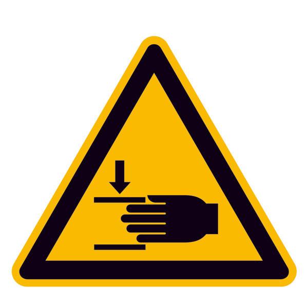 warnschild warnung vor handverletzungen. Black Bedroom Furniture Sets. Home Design Ideas