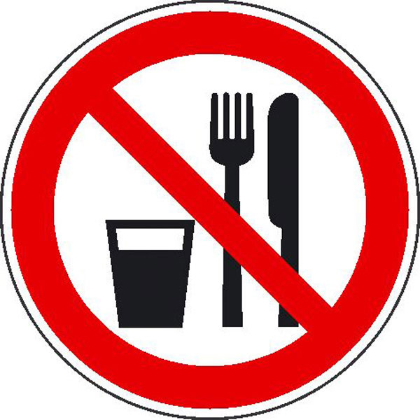 Verbotsschild essen und trinken verboten günstig bestellen