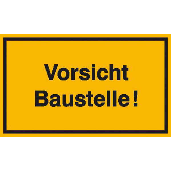 Baustelle schild frau  Hinweisschild zur Baustellenkennzeichnung Vorsicht Baustelle!
