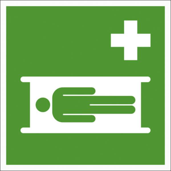 Erste hilfe symbol  Erste-Hilfe-Schild - langnachleuchtend Krankentrage