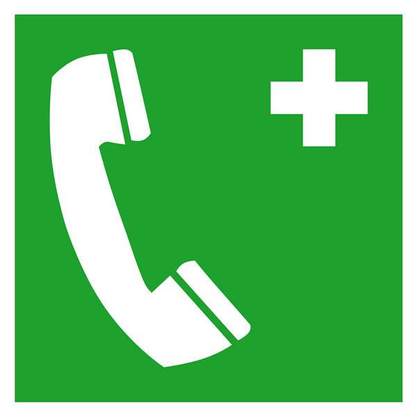 Erste hilfe symbol  Erste-Hilfe-Schild - langnachleuchtend Notruftelefon
