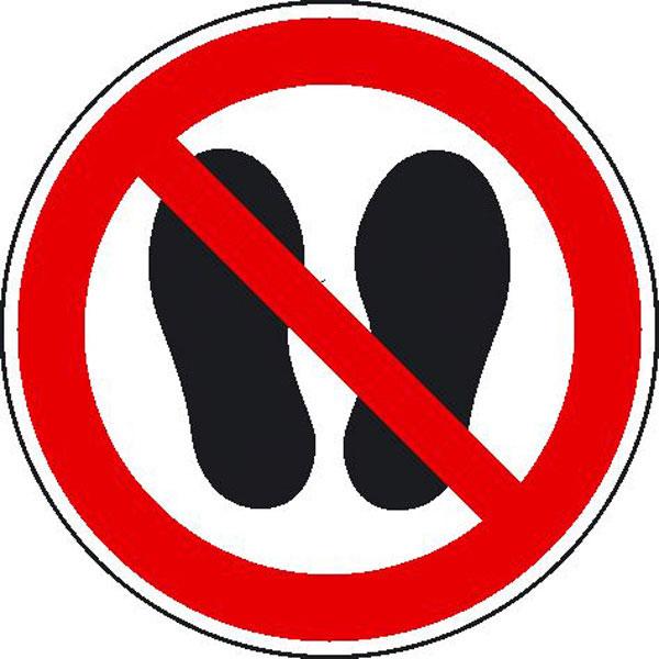 Verbotsschild - Betreten der Fl�che verboten