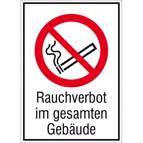 Verbotsschild - Rauchverbot im gesamten Geb�ude