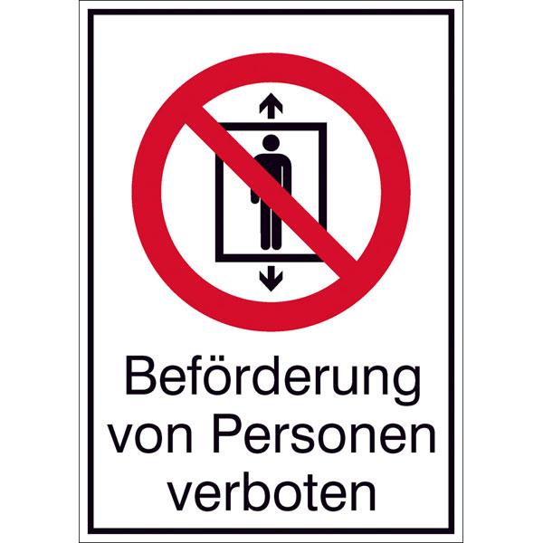 Verbotsschild - Bef�rderung von Personen verboten